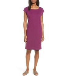 Eileen Fisher Hemp Organic Cotton Square Neck Shift Dress