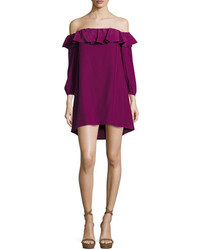 Amanda Uprichard Joanna Off The Shoulder Crepe Dress