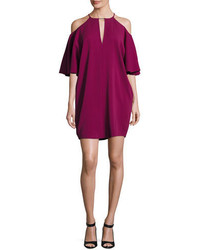 Rachel Zoe Andrea Cady Cold Shoulder Dress Purple