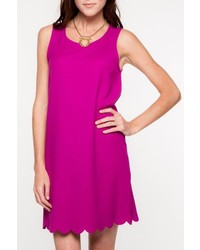 Everly Scalloped Hemline Dress