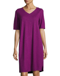 Eileen Fisher V Neck Jersey Shift Dress