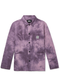 Purple Shirt Jacket