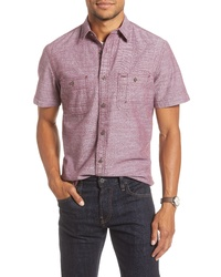 Fit Solid Short Sleeve Button Up Shirt