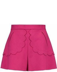 RED Valentino Redvalentino Scalloped Crepe Shorts