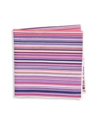 Southern Tide Savannah Stripe Cotton Silk Pocket Square