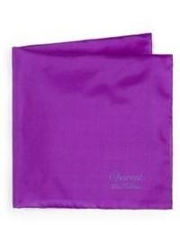 Charvet Solid Silk Pocket Square