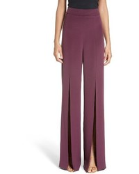 Cushnie et Ochs Slit Silk High Waisted Pants
