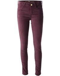 MiH Jeans The Breathless Claret Velvet Jeans