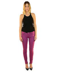 7 For All Mankind Purple Orchid Gwenevere Skinny Jeans 178 New