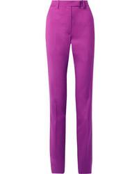 Calvin Klein 205w39nyc Wool Slim Leg Pants Violet