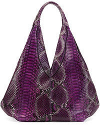 Napsack python hobo bag purple medium 53458