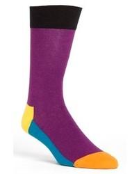 Happy Socks Five Color Socks Purple One Size