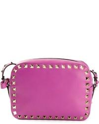 Purple Studded Crossbody Bag