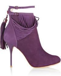 Sophia kendell fringed suede ankle boots medium 67808