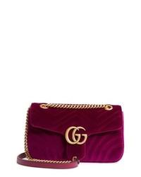 Purple Suede Crossbody Bag