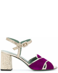 Paola darcano crossover block heel sandals medium 7012381