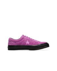 Converse Purple One Star Fuzzy Sneakers