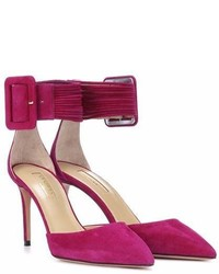 Aquazzura Casablanca 85 Suede Pumps
