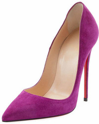 Christian Louboutin So Kate Suede Red Sole Pump