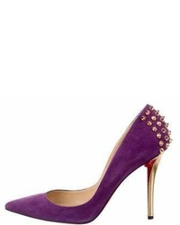 Christian Louboutin Suede Pointed Toe Pumps