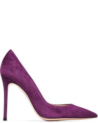 Suede pumps purple medium 3773332