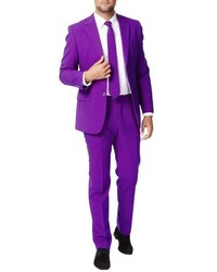Opposuits Purple Prince Trim Fit Two Piece Suit With Tie