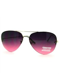106Shades Fashion Rimless Aviator Sunglasses Purple