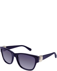 David Yurman Albion Square Universal Fit Sunglasses W Diamond Pav Navy