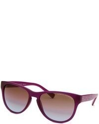 Armani Exchange Wayfarer Matte Purple Sunglasses