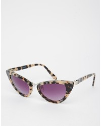 Asos Collection Handmade Acetate Cat Eye With Nose Bridge Sunglasses