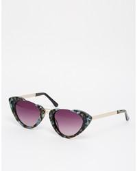 Asos Collection Handmade Half Frame Cat Eye Sunglasses