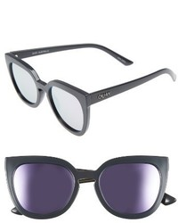 Quay Australia Noosa 50mm Square Sunglasses Black Smoke