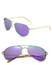 Oliver Peoples Benedict Mirrored Lens Aviator