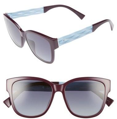 Christian Dior Dior Ribbon 55mm Sunglasses Black Blue