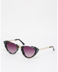 Asos Collection Handmade Half Frame Cat Eye Sunglasses