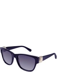 David Yurman Albion Square Universal Fit Sunglasses W Diamond Pav Navy