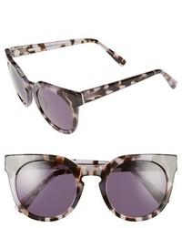 Derek Lam Stella 51mm Round Sunglasses Ink