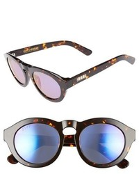 Diff Dime 48mm Retro Sunglasses Black White Blue