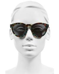 Diff Dime Ii 48mm Retro Sunglasses Black White Blue