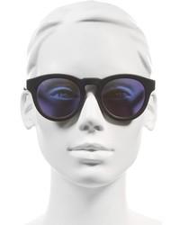 Diff Dime Ii 48mm Retro Sunglasses Matte Black Blue