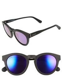 Diff Dime Ii 48mm Retro Sunglasses Matte Black Blue