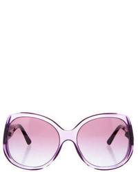 BVLGARI Embellished Butterfly Sunglasses