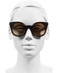 Fendi 48mm Cat Eye Sunglasses Havana Black