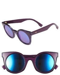 Fendi 48mm Cat Eye Sunglasses Havana Black