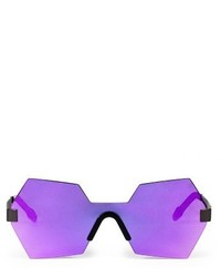 Glassing Gp7 57mm Shield Sunglasses Purple