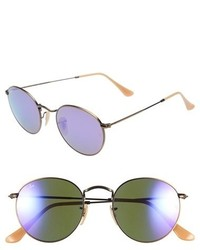 Ray-Ban Icons 50mm Sunglasses Brownpink