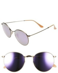Ray-Ban Icons 53mm Retro Sunglasses Lavender