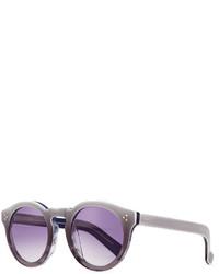 Illesteva Leonard Ii Round Ombre Sunglasses Purple