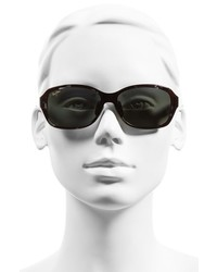 Maui Jim Koki Beach 56mm Polarizedplus2 Sunglasses Black And Grey Tortoise Grey