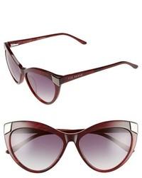 Ted Baker London 57mm Cat Eye Sunglasses White Ivory